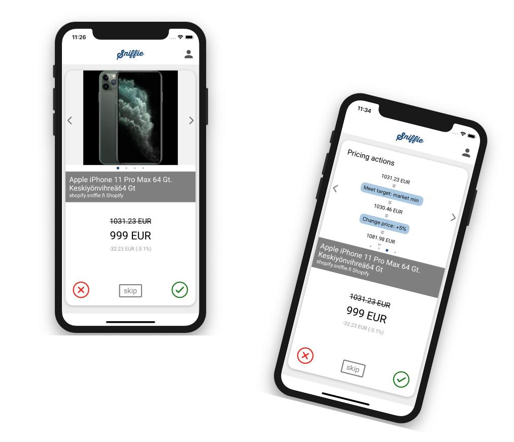 Sniffie mobile app